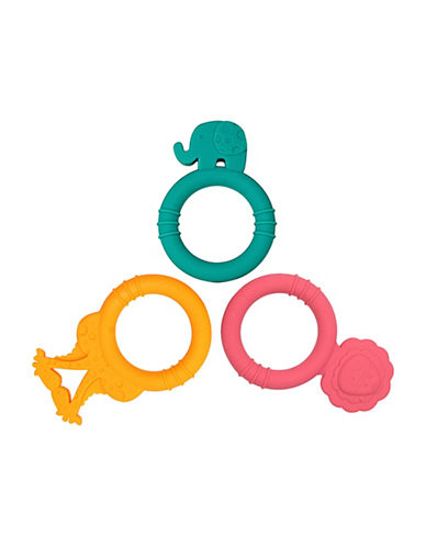 Marcus & Marcus Three-Pack Silicone Baby Teethers - Ollie, Marcus, Lola-MULTI-One Size