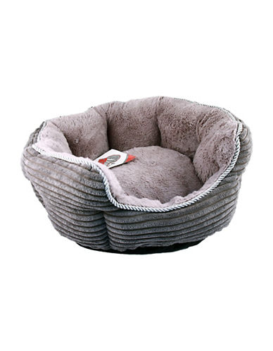Danazoo Small Corduroy Cuddler Pet Bed-GREY-One Size