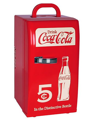 Coca-Cola Retro Fridge - 18 Can Capacity-RED-One Size
