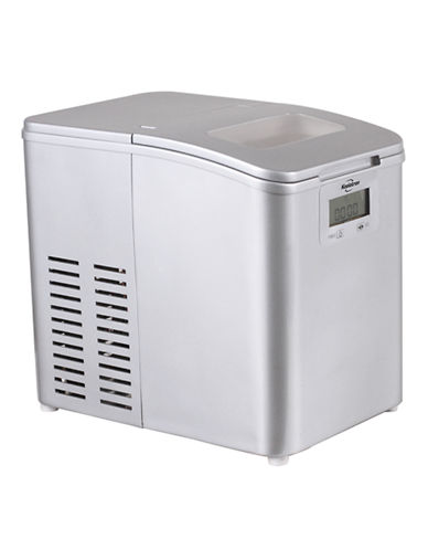 Koolatron Stainless Steel Look Ice Maker - 26 lbs per day Capacity-STAINLESS STEEL-One Size