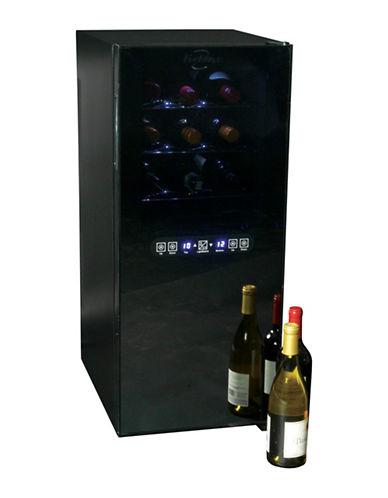 Koolatron Dual Zone 24-Bottle Wine Cooler-BLACK-One Size
