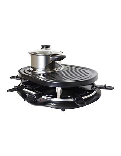 Total Chef Raclette Party Grill-BLACK-One Size