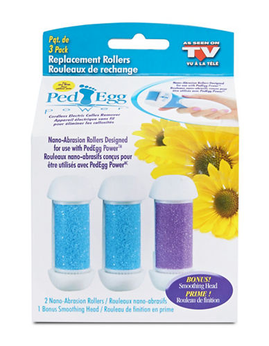 As Seen On Tv Ped Egg Power Refill Rollers-NO COLOUR-One Size