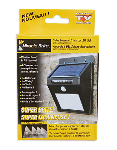 As Seen On Tv Miracle Brite Solar LED Light-BLACK-One Size
