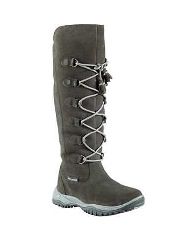 Baffin Miku Madeleine Knee-Height Leather Boots-GREY-9
