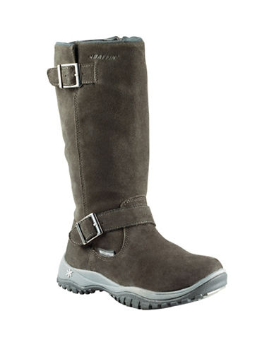 Baffin Miku Charlee Suede Boots-GREY-8