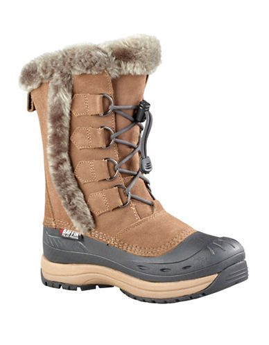 Baffin Drift Chloe Suede Winter Boots-TAUPE-9
