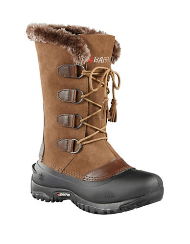 Baffin Kristi Waterproof Suede and Leather Boots-TAUPE-8