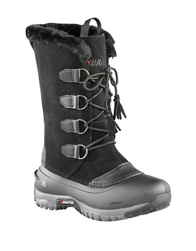 Baffin Kristi Waterproof Suede and Leather Boots-BLACK-9