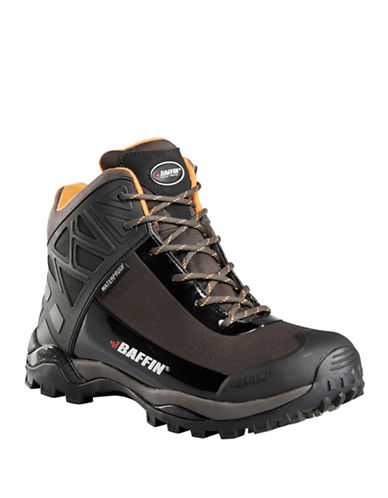 Baffin Blizzard Waterproof Lace-Up Boots-BLACK/ORANGE-9