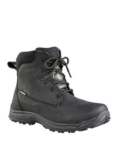Baffin Truro Lace-Up Leather Boots-BLACK-13