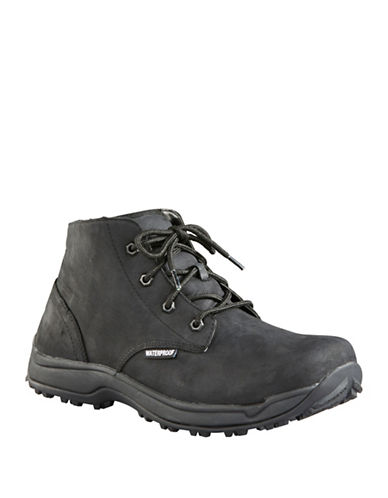 Baffin Fairbanks Leather Lace-Up Boots-BLACK-11