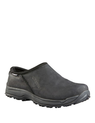 Baffin Portland Leather Slip-On Shoes-BLACK-14