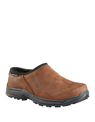 Baffin Portland Leather Slip-On Shoes-BROWN-7