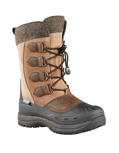 Baffin Drift Kara Leather Suede and Felt Boots-BROWN-10