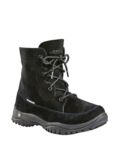 Baffin Miku Shannon Leather and Suede Boots-BLACK-11