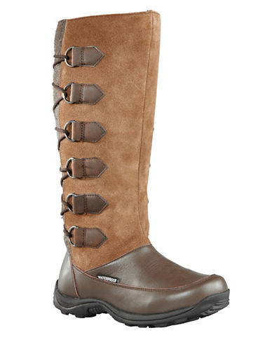 Baffin Urban Chamonix Suede and Leather Boots-TAUPE-9