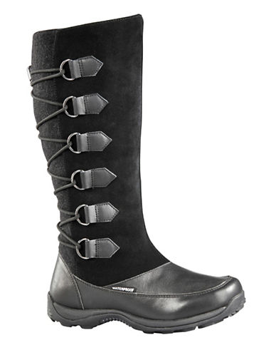 Baffin Urban Chamonix Suede and Leather Boots-BLACK-10