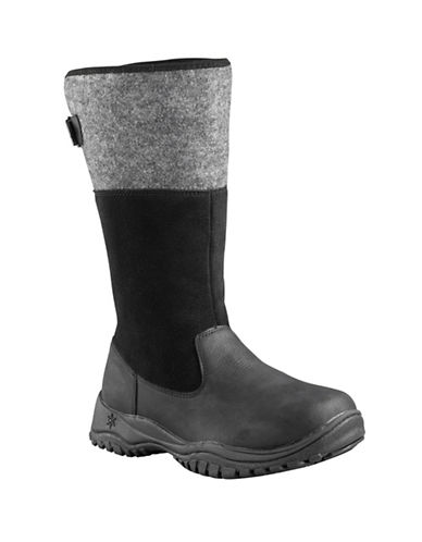 Baffin Engelberg Suede Winter Boots-BLACK-9