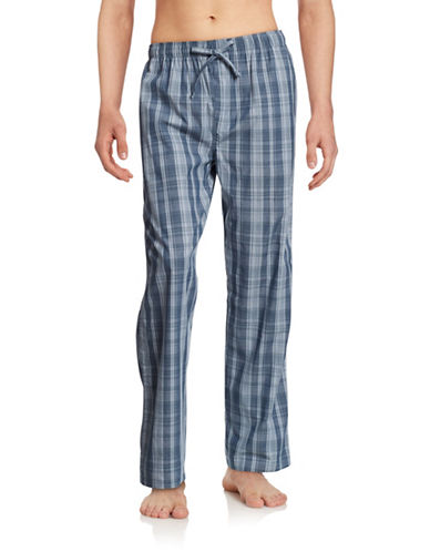 Hudson North Cotton Plaid Pants-BLUE-Small 88388278_BLUE_Small
