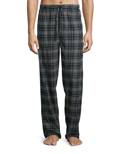 Hudson North Plaid Flannel Lounge Pants-CHARCOAL/NAVY-Small plus size,  plus size fashion plus size appare