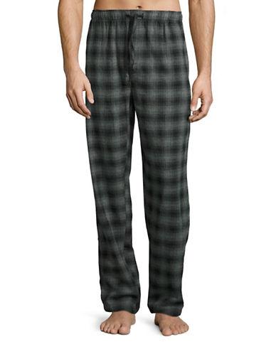Hudson North Gradient Plaid Flannel Lounge Pants-CHARCOAL/BLACK-Small plus size,  plus size fashion plus size appare