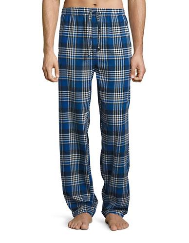 Hudson North Plaid Flannel Lounge Pants-BLUE/BLACK-Small plus size,  plus size fashion plus size appare