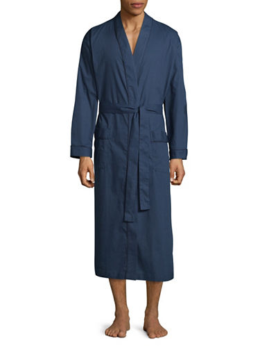 Black Brown 1826 Diamond Sateen Shawl Robe-NAVY-Large/X-Large