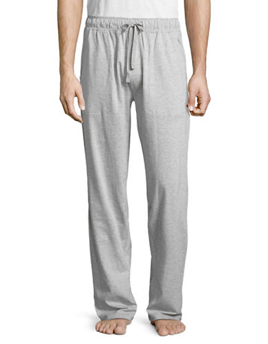 Black Brown 1826 Knit Sleep Pants-GREY-Medium