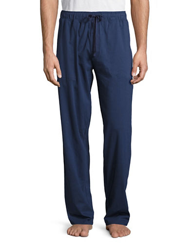 Black Brown 1826 Knit Sleep Pants-BLUE-Medium