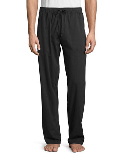 Black Brown 1826 Knit Sleep Pants-NAVY-Medium