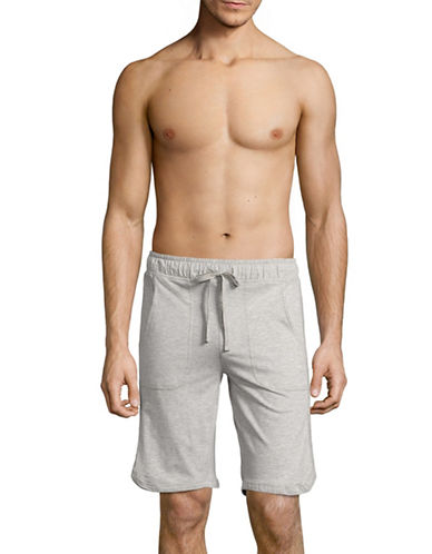 Black Brown 1826 Kvi Knit Sleep Shorts-GREY MIX-Small
