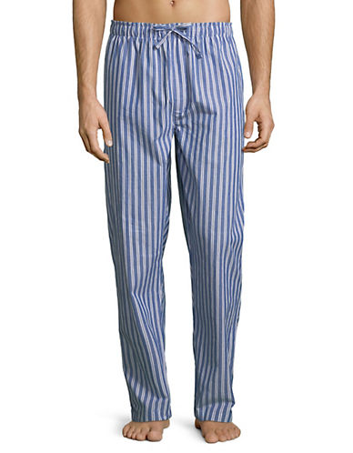 Black Brown 1826 Striped Cotton Pyjama Pants-BLUE-Medium 89890995_BLUE_Medium