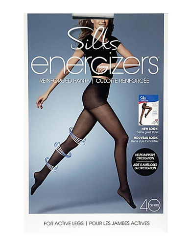 Silks Energizer Sheer Pantyhose-HINT OF BLACK-B