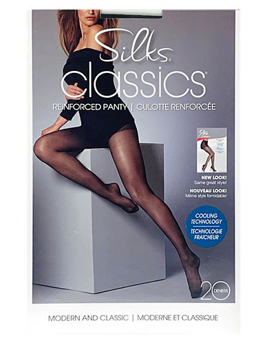 Silks Reinforced Pantyhose-BROWN-D