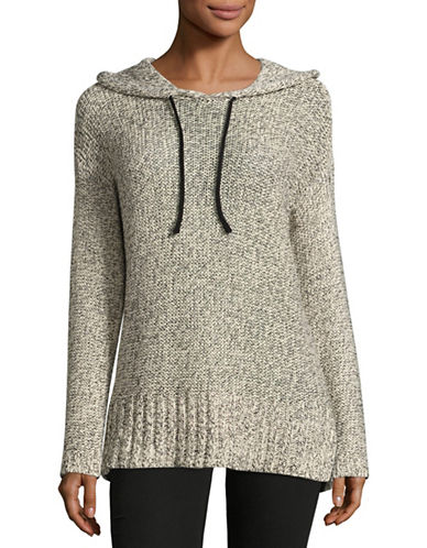 Design Lab Lord & Taylor Tape Yarn Pullover Hoodie-WHITE-Small 88901161_WHITE_Small