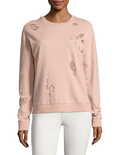 Bassike Crewneck Cotton Sweater-PINK-Small