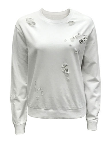 Bassike Crewneck Cotton Sweater-WHITE-Large