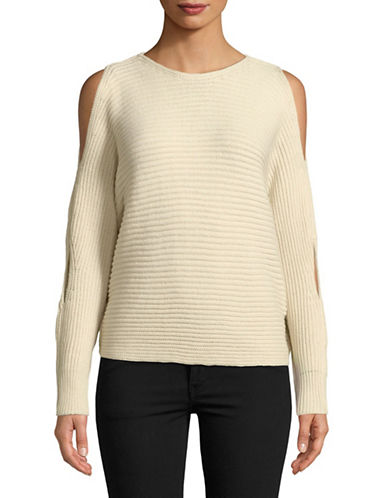 Design Lab Lord & Taylor Slit-Sleeve Sweater-NATURAL-Small