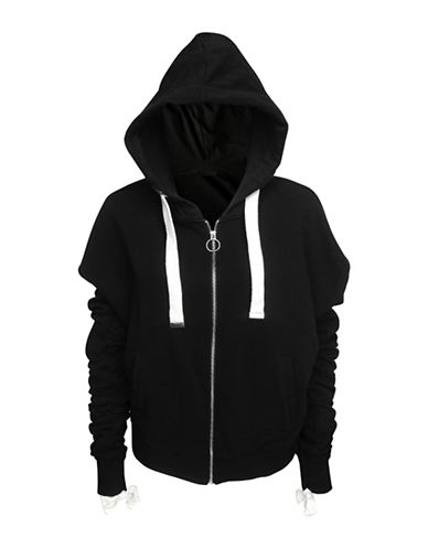 Basik Rushed Cotton Hoodie-BLACK-X-Small 89846698_BLACK_X-Small
