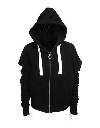 Basik Rushed Cotton Hoodie-BLACK-Medium 89846700_BLACK_Medium