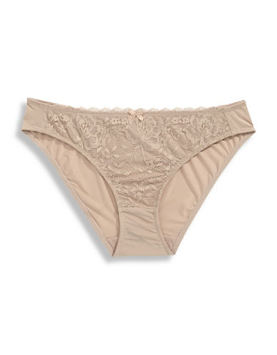 Triumph Endearing Lace Panties-BEIGE-Medium