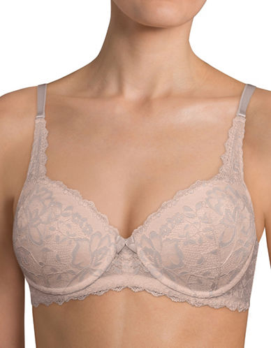 Triumph 90003 Endearing Lace Push-Up Bra-GREY-34A