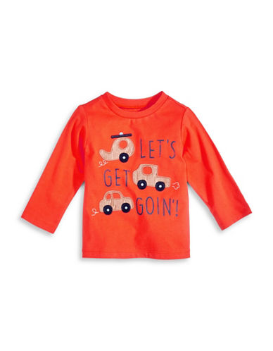 First Impressions Cars Applique T-Shirt-ORANGE-6-9 Months