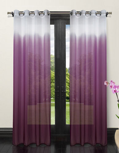 Home Studio Set of Two Ombre Sheer Drape Panels-PURPLE-One Size