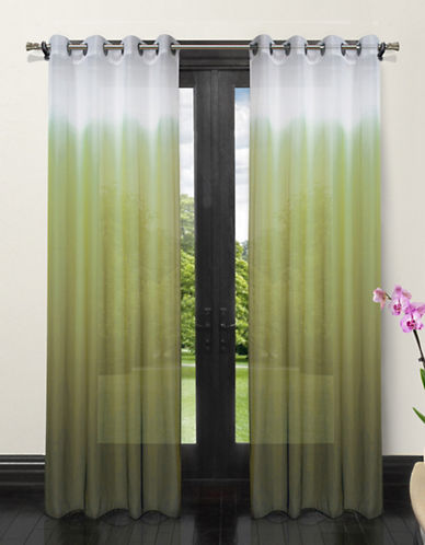 Home Studio Set of Two Ombre Sheer Drape Panels-GREEN-One Size
