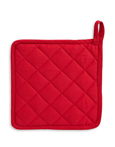 Distinctly Home Twill Pot Holder-RED-One Size