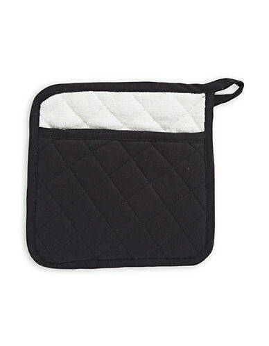 Distinctly Home Twill Pot Holder-BLACK-One Size