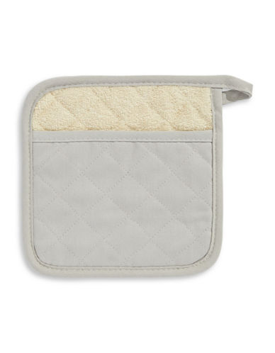 Distinctly Home Twill Pot Holder-GREY-One Size