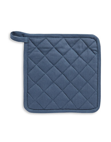 Distinctly Home Twill Pot Holder-NAVY-One Size